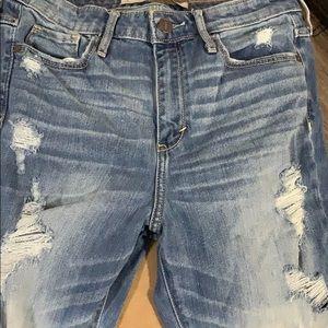 Abercrombie & Fitch Jeans - destroyed tri color denim jeans